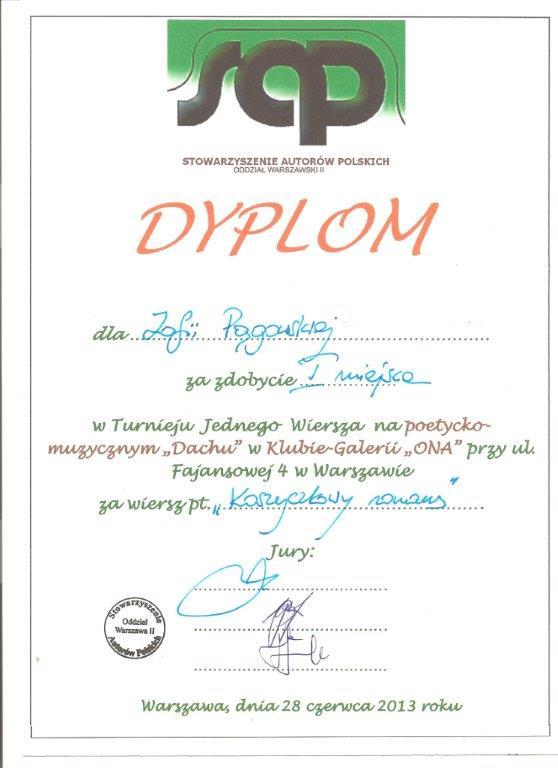 dyplom SAP